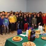 con gli alunni delle secondarie di Lattarico (Cosenza)